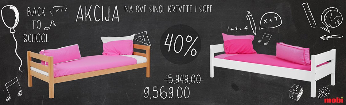 Akcija na sve singl krevete i sofe